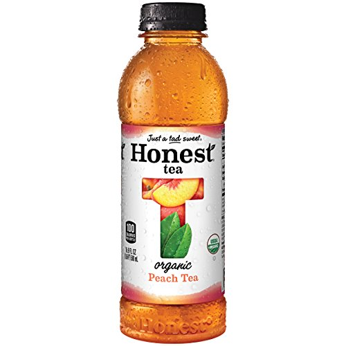 Organic Iced Tea (Honest Tea Certified Organic, Fair Trade Certified, Peach Tea, 16.9-Ounce Bottles,  (Pack of)