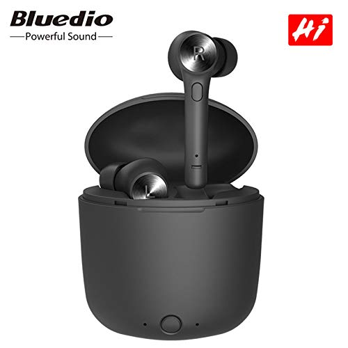 Original Bluedio Hi Earbuds Bluetooth 5.0 TWS Wireless Earphone Ture Stereo Sport Headset in-Ear with Charging Box Built-in Mic in USA