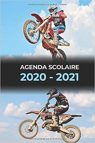 Agenda scolaire 2020 – 2021 moto motocross | pour collège et lycée