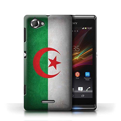 Etui / Coque pour Sony Xperia L/C2105 / Algérie conception / Collection de Drapeau