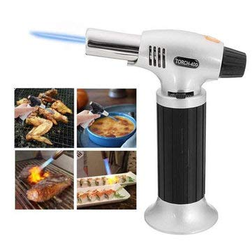 Windproof Creme Brulee Culinary Butane Refillable cook Torch Jet Flame Lighter Flame Torch - Kitchen