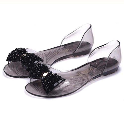 SunfeiFemale Plastic Bowknot Casual Sandals