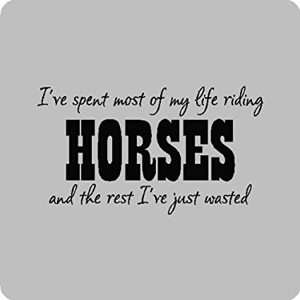 Amazoncom Ive Spent Most Of My Lifehorse Riding Wall Quotes
