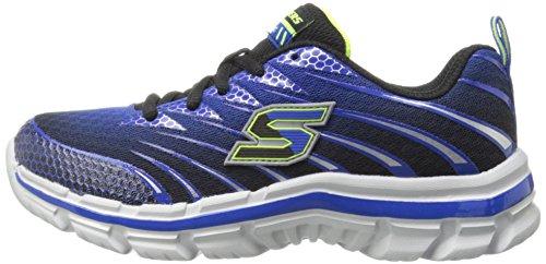 Skechers Kids Boys' Nitrate Sneaker, Royal/Black, 3.5 M US Big Kid