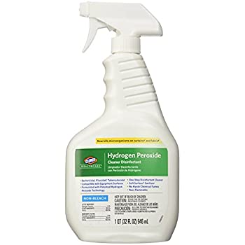 Clorox CLO30828 Healthcare Hydrogen Peroxide Cleaner Disinfectant Spray, Kills Norovirus, 32 fl. oz. (Pack of 2)