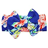 Newmao Toddler Girls Fashion Elastic Flowers Bowknot Hairband Casual Accessories (Blue)