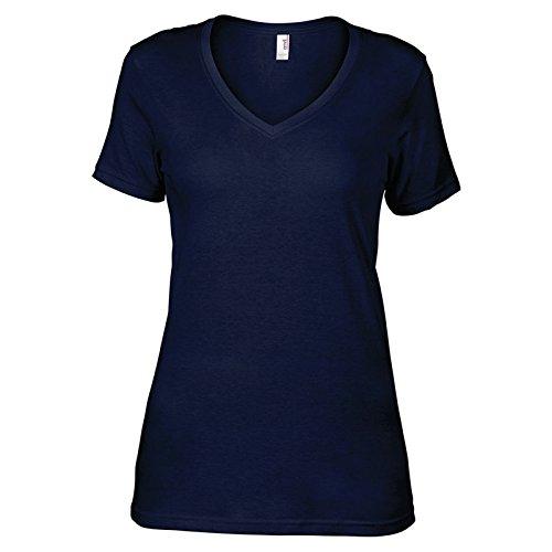 Anvil Femme T Moderne shirt Bleu Marine 4SYrS