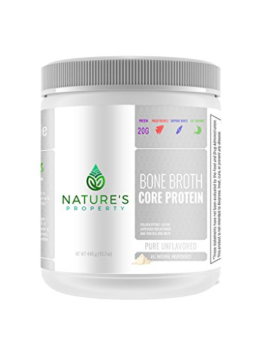 Nature's Property Bone Broth Core Protein – Pure Unflavored | 20 Servings | Vital Collagen Peptides + Gelatin | Gluten Dairy, Egg & Nut Free | Bone Broth Protein Powder | Ancient Superfood Nutrition Review