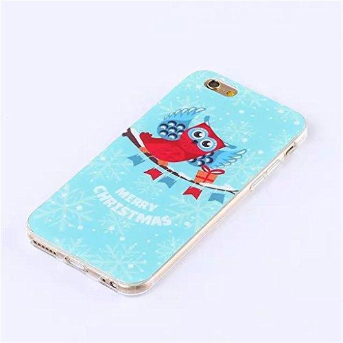 """iPhone 6 4.7"""" Coque , Apple iPhone 6 (4.7"""") Coque Lifetrut® [ Chouette ] [Coussin d'air] [Capsule] TPU souple ** Slim Case TPU Charm NOUVEAU ** Prime Trendy flexible couleur Soft Style Coque Etui pour"""