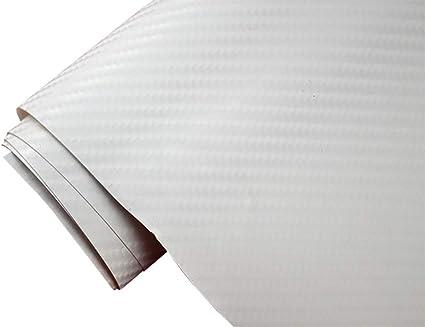 Neoxxim 21 20 M2 Premium Auto Folie 4d Carbon Folie Weiss 4d 50 X 150 Cm Blasenfrei Mit Luftkanälen Ca 0 15mm Dick Folierung Folieren Bekleben Küche Haushalt
