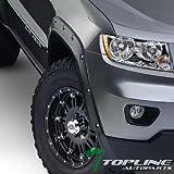 Topline Autopart Black Boss Pocket Bolt Fender Flare Wheel Cover Kit 6P 11-16 Jeep Grand Cherokee