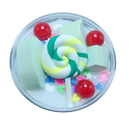 UOFOCO Fluffy Cute Lollipop Butter Slime DIY Stress Relief Children Kid Funny Toy Gift ()