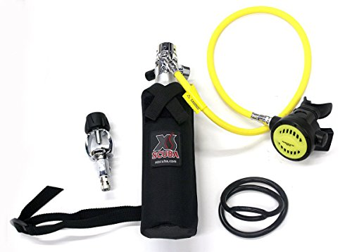 DXDIVER Bailout Pony Bottle Diving Kit with Hose 6 cf Tank Gauge Regulator Spare Secondary Air Scuba Dive Egressor