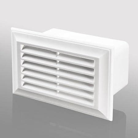 Para campana extractora de conducto Extractor de la parrilla para la recuperación de calor del ventilador - plano y Rectangular (5 UNIDADES) 55X110mm: Amazon.es: Hogar