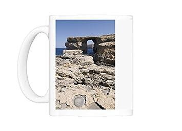 Taza de la foto en la ventana azul Dwejra de punto, Gozo, Malta, Europa: Amazon.es: Hogar