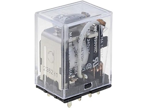 LY2-0-24DC Relay electromagnetic DPDT 24VDC 10A industrial Series LY2 LY2-024VDC