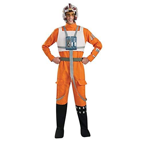Rubie's Star Wars X-Wing Pilot Costume Orange / White - X-Large - Chest Size 44-46 ()