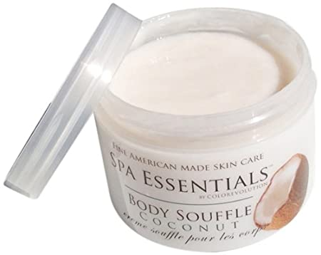 Natural Body Souffle, Coconut, 8 Ounce Spa Essentials