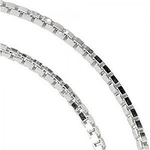 Designer Inspirations Boutique ® Box Link Sterling Silver Anklet - Adjustable 9.5