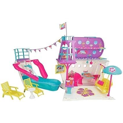 Amazoncom Barbie Pink Passport Cruise Ship Playset Toys Games