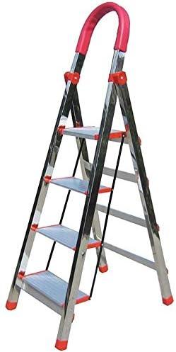 RFJJAL Taburete Plegable Taburete del pie de Acero Inoxidable 4 Escalera Plegable, hogar Conveniente Barandilla de Escalera de heces, Portátil: Amazon.es: Hogar