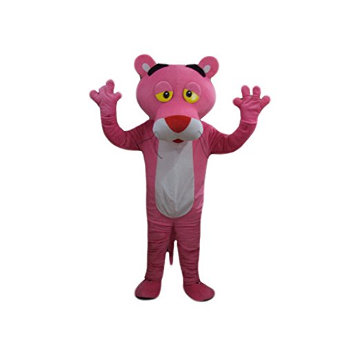 Kooplus Pink Panther Mascot Costume Cartoon Costume