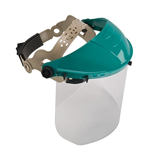 Clear Face Shield - Safety Works Adjustable Headgear with Faceshield