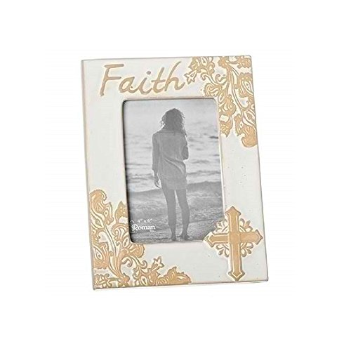 Roman Giftware 8.5 inches High Ivory Faith Frame 4 x 6 Wall and Table Top by Roman