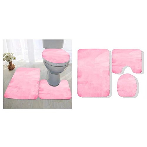 Avis N. Kirby three-piece toilet seat pad custom magenta paper texture background
