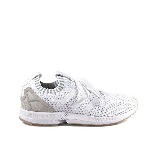 best service 2875c 6f5e8 Adidas Men's ZX Flux Primeknit Running Shoes White 8.5 D(M) US