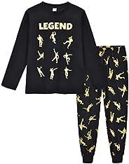 Emote Legend Dance Gaming All Over Gaming Black Gold Cotton Short Long Pajamas