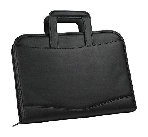 impecgear zippered executive ring binder portfolio