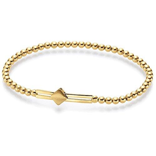 2,7 Mm bracelet extensible embout mobile 750 en or jaune or mat, 17 cm