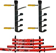 5-Tiers Wall Mount Sword Stand, Sword Table Display Holder, Sword Display Rack Sword Wall Mount Sword Wall Rac