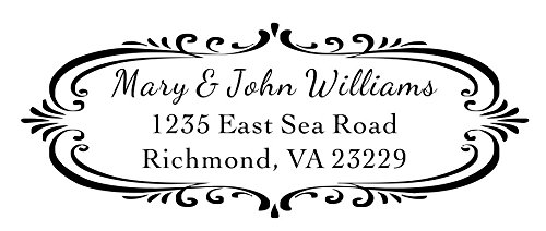 Designer Customized Return Address inking