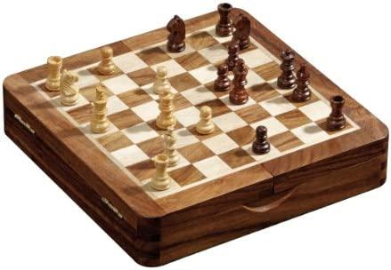 Philos 4014156027329 Tablero de ajedrez plegable Juego de ajedrez ...