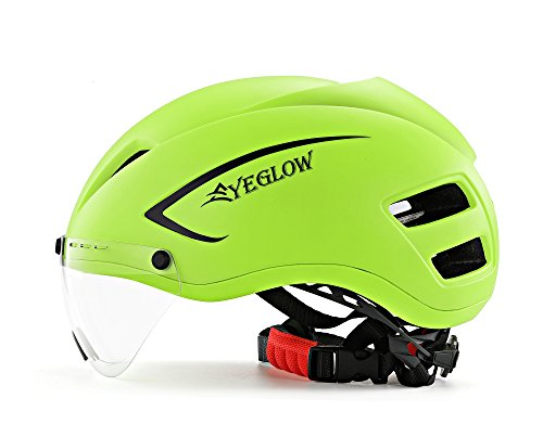 Stylish Adult Road Bike Helmet with Visor Protector Goggle Lens Adjustable Bicycle Helmets for Men & Women
