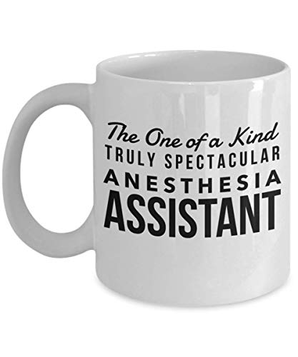 (Dozili Funny Coffee Mug - Anesthesia Assistant Gifts - The One of a Kind Truly Spectacular Mug, Novelty Appreciation Gift Ideas, 11 Oz, White)