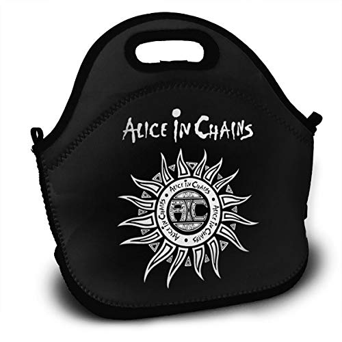 BDBbuydd Alice In Chains Lunch Bag Tote Handbag Lunchbox Food Container Gourmet Tote Cooler Warm Pouch For School Work Office