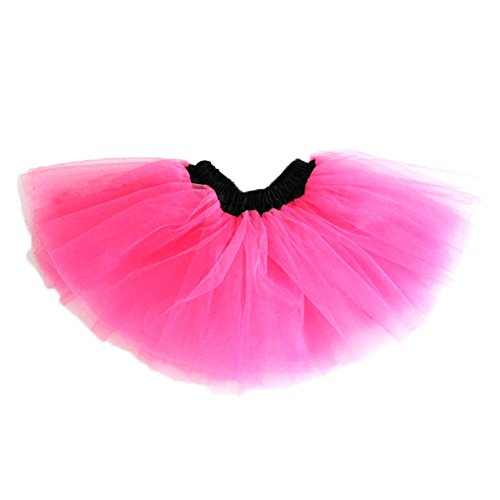 [Taiycyxgan Girl's Black Waist Tutu Assorted Colors Ballet Dance Mini Skirts (Watermelon Red)] (Watermelon Toddler Costume)