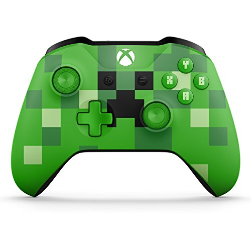 Microsoft Xbox Wireless Controller - Minecraft Creeper - Xbox One (Discontinued) (Green Xbox 360 Controller Wired)