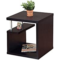 Stylish and Trendy , Features Contemporary Design Nobu End Table, This Table Has a Unique Shape Comes in Rich Matte Red Cocoa Finish