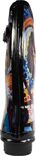 Prints NORTY Rainboots Solids Glossy Matte Print Women's Mid Monet Waterproof Wellie 14 and Hurricane Calf 0nTYW7xT