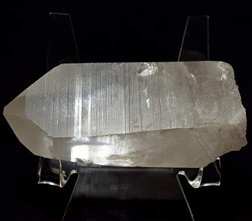 Laser Quartz Crystal - HC Set: 83mm Lemurian Quartz Point Natural Sparkling Quartz Mineral Laser Wand Star Seed Crystal Earth Spirit Stone - Brazil + One Polished Clear Quartz Cabochon
