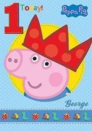 Peppa Pig George Age 1 1st Happy Birthday Card Amazon Co Uk Toys
