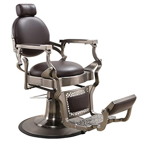 Heavy Duty Metal Vintage Barber Chair, Hydraulic Reclining Salon Chair for Salon, Tattoo, Beauty Spa Equipment Styling Chair