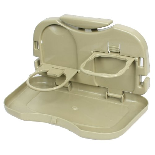 (uxcell Truck Car Foldable Food Meal Drink Tray Holder Dinner Table Desk Khaki)