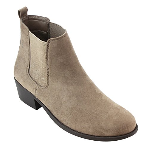 Refresh Damen Tildon-03 Low Heel Slip auf festen Ankle Boot Taupe