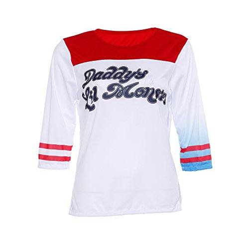 Harley Quinn Suicide Squad T-shirt Daddy's Lil Monster Costume Fancy Dress (Harley Quinn Costume Shirt)