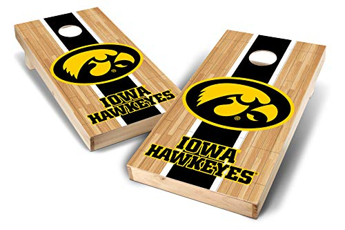 PROLINE NCAA College 2' x 4' Iowa Hawkeyes Cornhole Board Set - Court